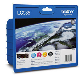Venta de Pack Tinta Original Brother LC-985VALBP