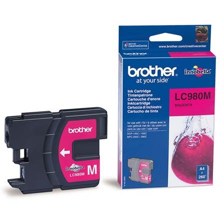 Cartucho Tinta Original Brother LC-980M Magenta