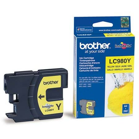 Cartucho Tinta Original Brother LC-980Y Amarillo
