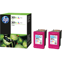 Pack 2 Cartuchos Tinta Original Hp 301 XL / D8J46AE Tricolor